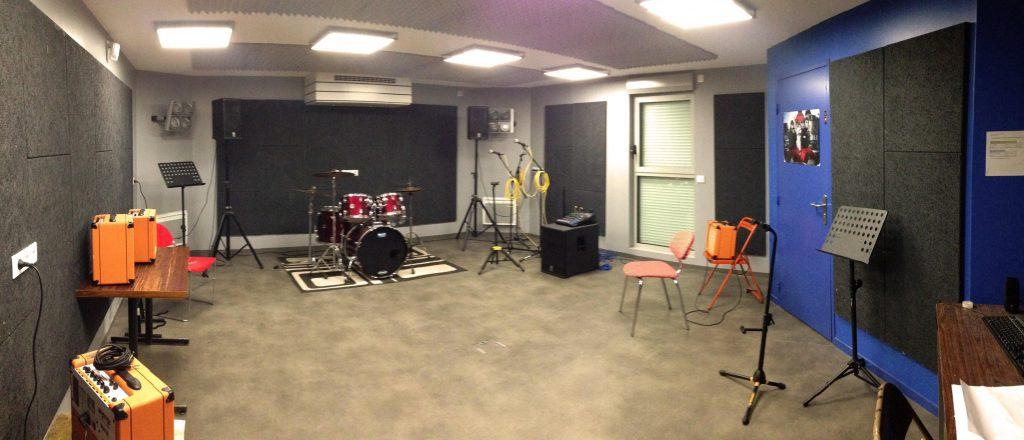 Studio bleu de répétition