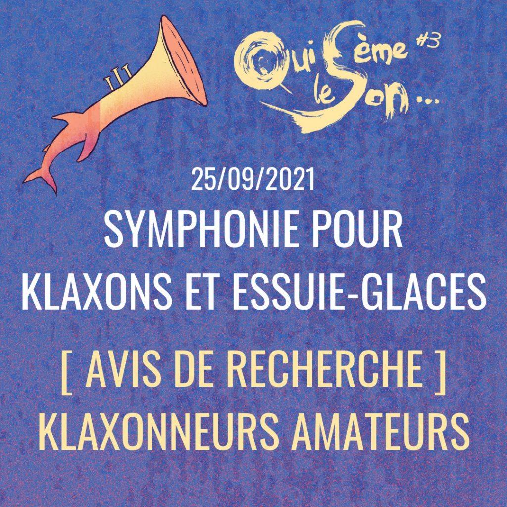 symphonie pour klaxons et essuie glaces